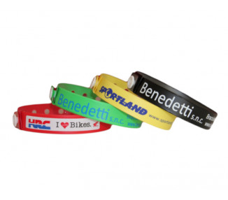 Vinile wristband art. 2001 - with Text or Your Logo