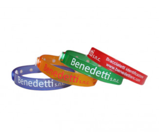 Vinile wristband SUPER SOFT art. 2002 - with Text or Your Logo